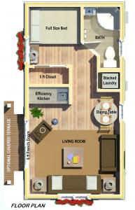 Alameda Tiny Homes ADU Design Permit Build Sample Floor Plan